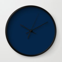 Pure clear blue navy sea color ocean deep water Wall Clock
