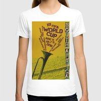 south africa T-shirts featuring World Cup: South Africa 2010 by James Campbell Taylor