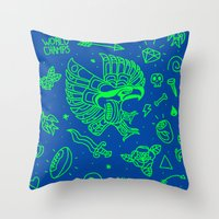 seahawks Throw Pillows featuring Seahawks Super Bowl Champion by Maioriz Home