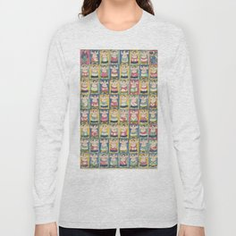 Sumo Wrestlers, Utagawa Yoshikazu, Woodcut Long Sleeve T-shirt