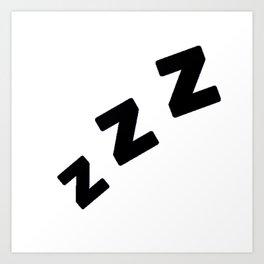 Zzzs in Black Art Print