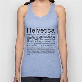 Helvetica (Black) Unisex Tank Top