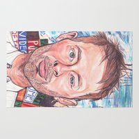 radiohead Area & Throw Rugs featuring Thom Yorke Radiohead Hail to The Theif by Bill Gallagher Art