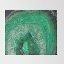 Green Emerald Agate Throw Blanket