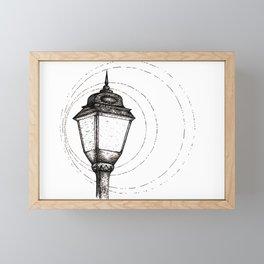 Streetlamp Framed Mini Art Print
