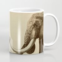 elephants Mugs featuring Old Friend by Eric Fan