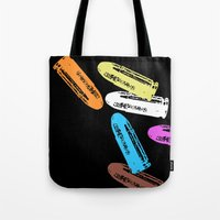 reservoir dogs Tote Bags featuring Reservoir Dogs by Brian Walker