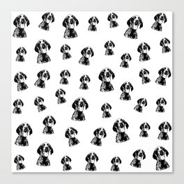 CHRISTMAS GIFTS FOR THE GERMAN POINTER SHORTHAIRED DOG LOVER,GIFTS FROM MONOFACES FOR ALL IN 2020 Canvas Print