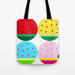 Watermelon in Fours | Watermelon Seed | Watermelon Home Decor | pulps of wood Tote Bag