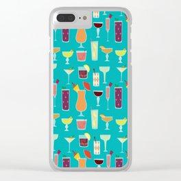 Retro Cocktails Clear iPhone Case