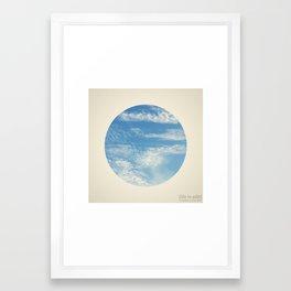 Circular 01 Framed Art Print