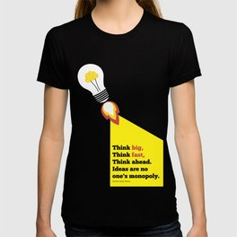 Lab No. 4 - Think Big Dhirubhai Ambani Reliance Corporate Startup Quotes Poster T-shirt