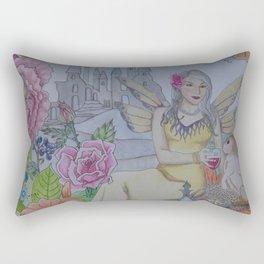 Fairy and Bunny Rectangular Pillow