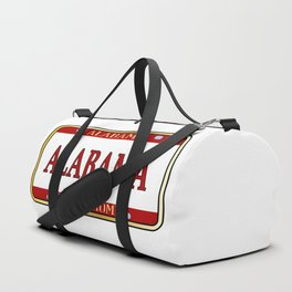 Alabama State Name License Plate Duffle Bag