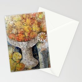 Materic composition of yellows and oranges Stationery Cards