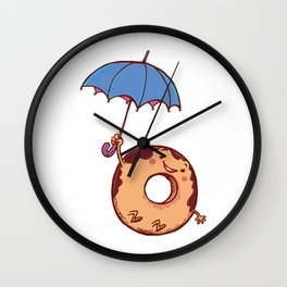 donut in air Wall Clock