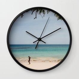 Tropical beach fisherman, São Tomé and Prince Wall Clock
