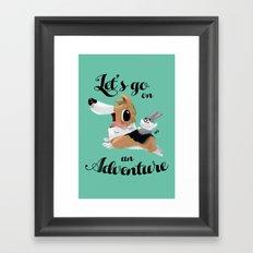 Lets Go on an Adventure Framed Art Print