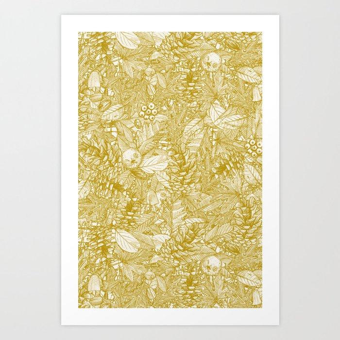forest floor gold ivory Kunstdrucke