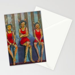 Five Little Red Riding Hoods 3 Stationery Cards