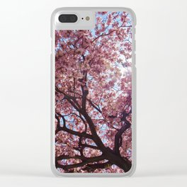 Pink Cherry Blossom Tree 1 Clear iPhone Case