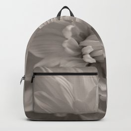 Monochrome chrysanthemum close-up Backpack