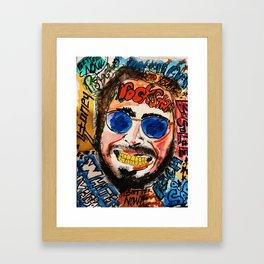 rockstar,rapper,rap,white iverson,stone,poster,fan art,wall art,dope,street art,graffiti,gold,pop Framed Art Print