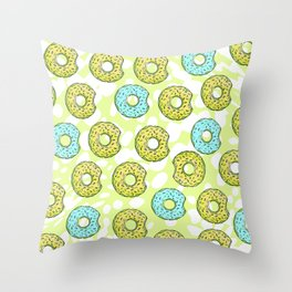 DONUTS AND DOTS DELICOUS DELIGHT Throw Pillow