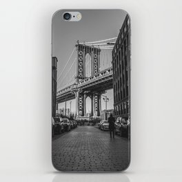 New York City Bridge (Black and White) iPhone Skin