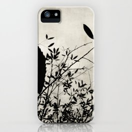 Nature in black and white iPhone Case