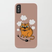 fat iPhone & iPod Cases featuring FAT CAT by Alberto Corradi