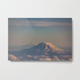 Three Mountain Peaks above the Clouds Metal Print