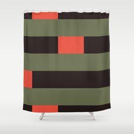 Dano's Love #geometric #stripes Shower Curtain