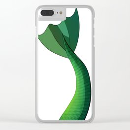 Emerald Mermaid Tail V2 Clear iPhone Case