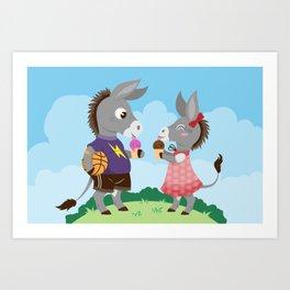 Siblings in Summer Art Print