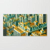 meme Canvas Prints featuring 'Meme City' by Justin Claus Harder