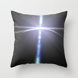 close to the moon lens flare Throw Pillow