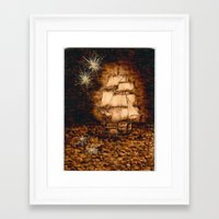 peter pan Framed Art Prints featuring Peter Pan by Red, the artist
