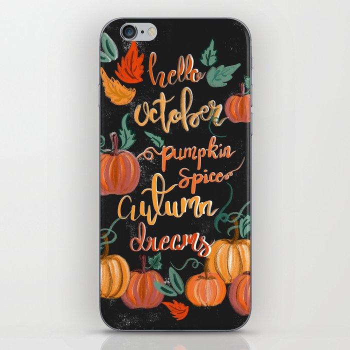 Hello October iPhone Skin