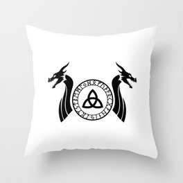 Norse Dragon - Celtic Knot Throw Pillow
