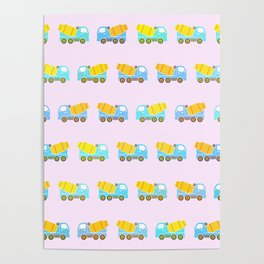 Toy truck pattern Poster