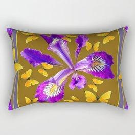 YELLOW & PURPLE BUTTERFLIES PURPLE IRIS PUCE Rectangular Pillow