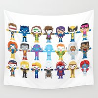 x men Wall Tapestries featuring 90's 'X-men' Robotics by We Are Robotic