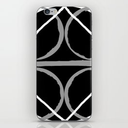 Geometric Unity Centered in a Circle iPhone Skin