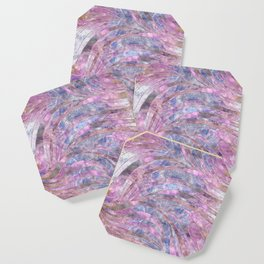 Fluorite and Charoite Wavy Pattern Coaster