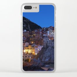 Cinque Terre Italy at night Clear iPhone Case