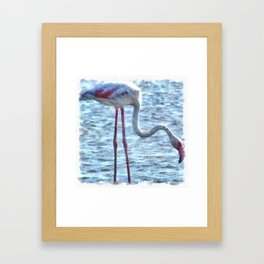 Balance of Nature Flamingo Watercolor Framed Art Print