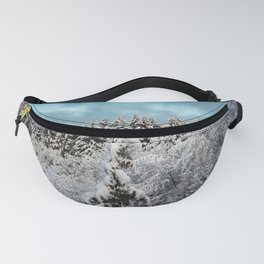 Winter Woods - Snow Capped Forest Adventure Nature Photography Fanny Pack