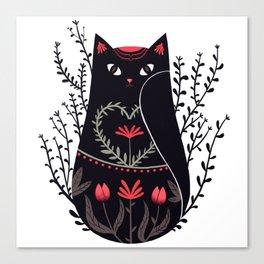 Russian kitty Canvas Print