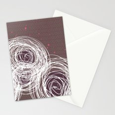 Doodle Flowers in Purple by Friztin Stationery Cards